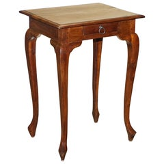 Vintage Mahogany Single Drawer Side Table Made Using Traditional Dowels