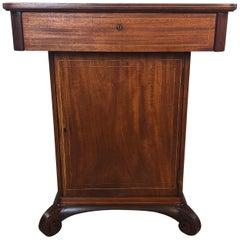 Vintage Mahogany Smoking Humidor Stand