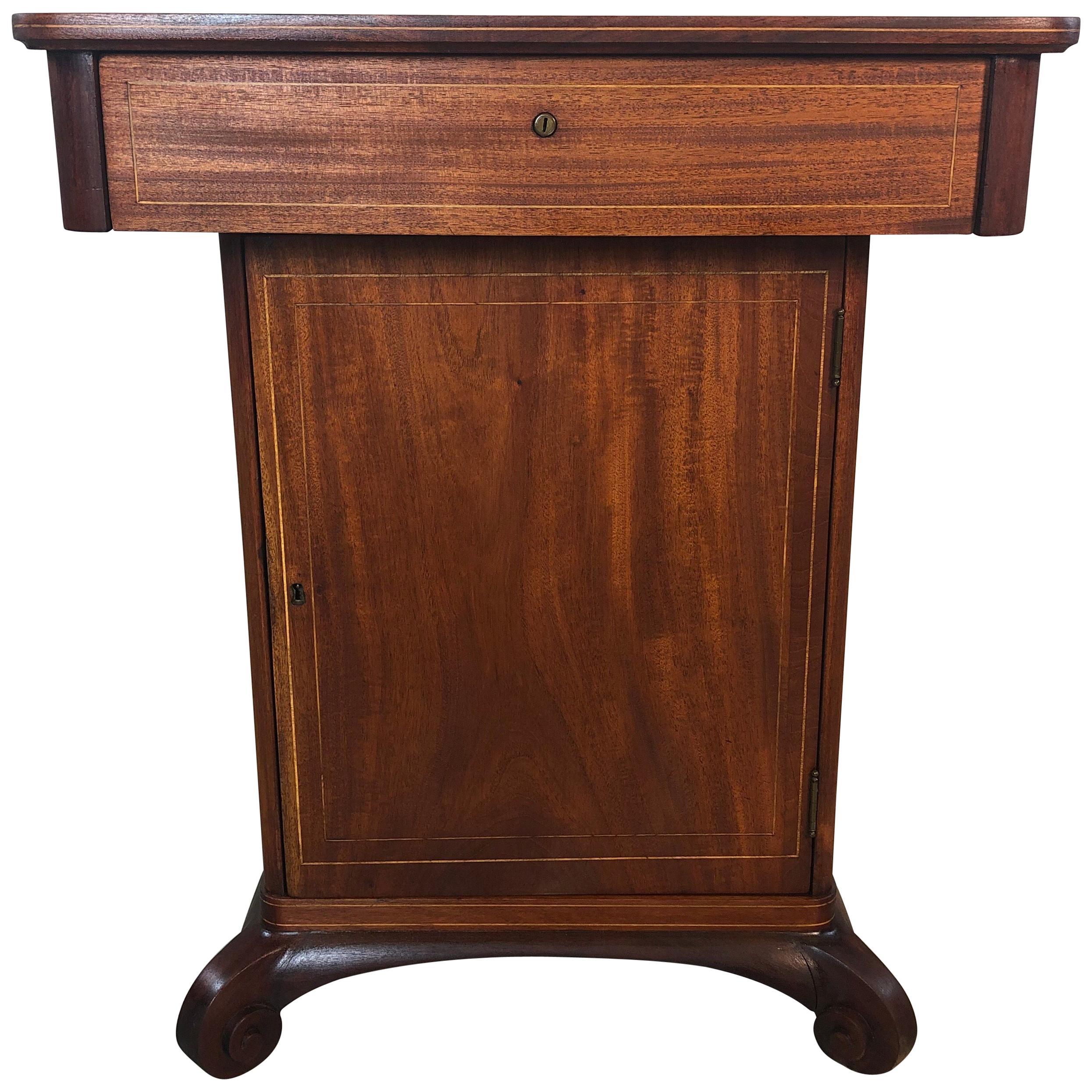 Beau Vintage Mahogany Smoking Humidor Stand