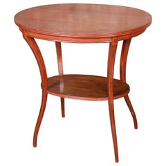 Vintage Mahogany Swag Leg Two-Tier Occasional Side Table
