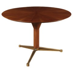 Vintage Mahogany Table, Italy, 1960s