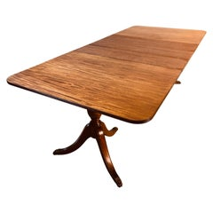 Vintage Mahogany Wood Dining Room Table
