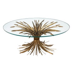 "Vintage Maison Baguès ""Sheaf of Wheat"" Coffee Table"