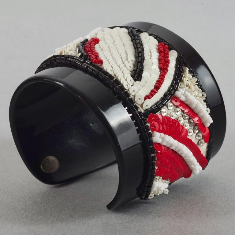 Women's Vintage MAISON LESAGE Beaded Cuff Bracelet For Sale