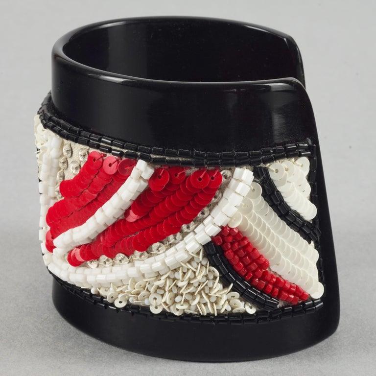 Vintage MAISON LESAGE Beaded Cuff Bracelet For Sale 1