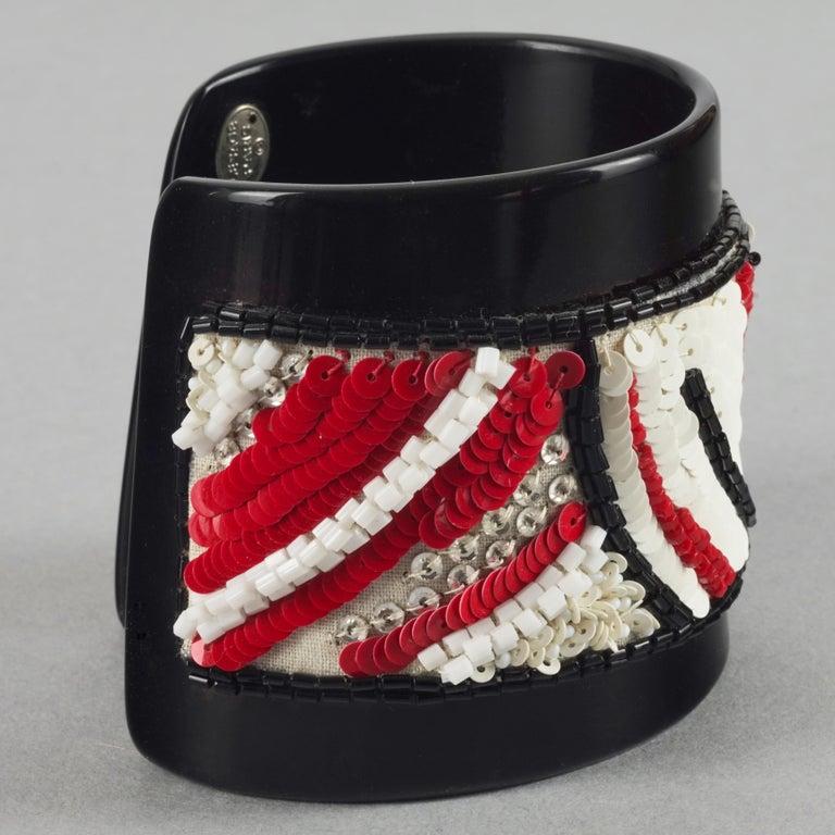Vintage MAISON LESAGE Beaded Cuff Bracelet For Sale 2