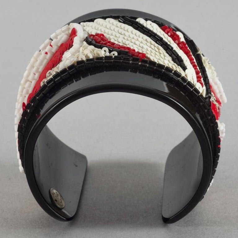 Vintage MAISON LESAGE Beaded Cuff Bracelet For Sale 3