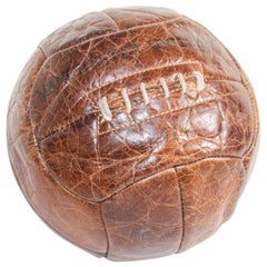 Vintage Manchester United Football Collector Leather Ball, 1966