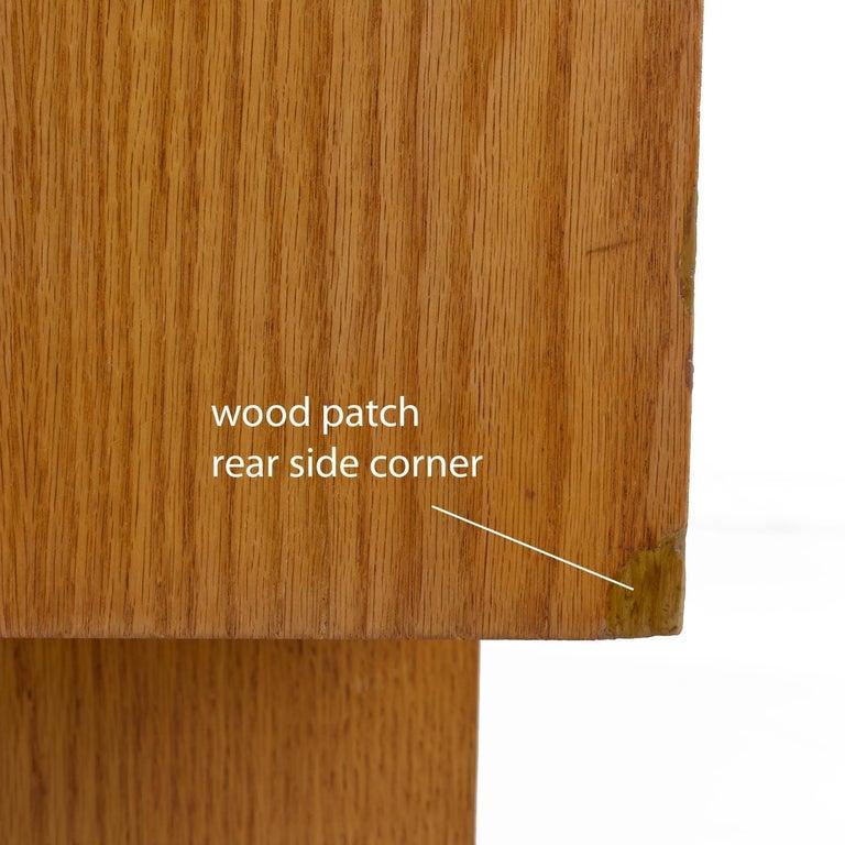 Vintage Maple Burl Walnut Rosewood and Oak Brutalist Credenza Dresser 5