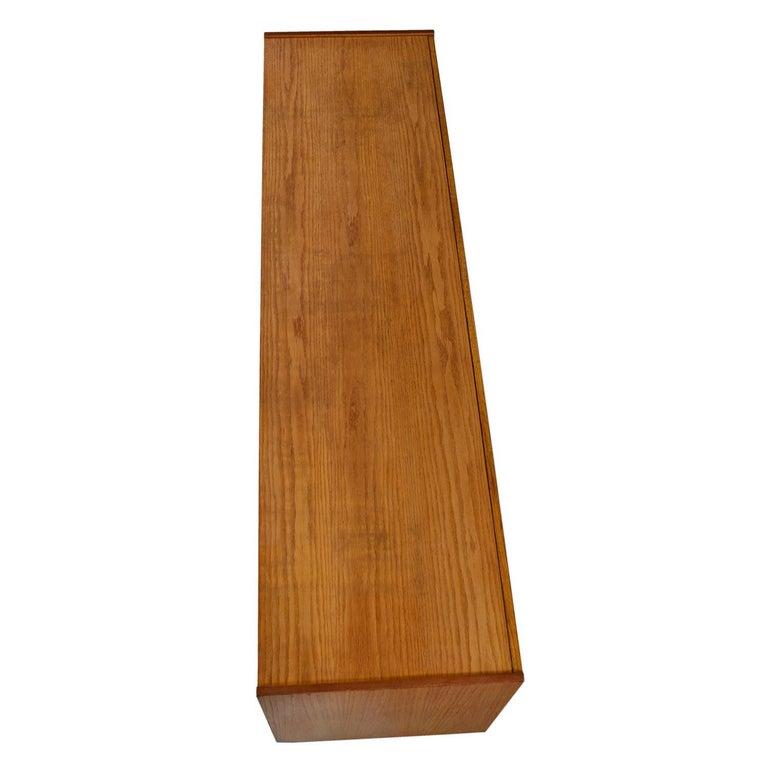 Vintage Maple Burl Walnut Rosewood and Oak Brutalist Credenza Dresser 1