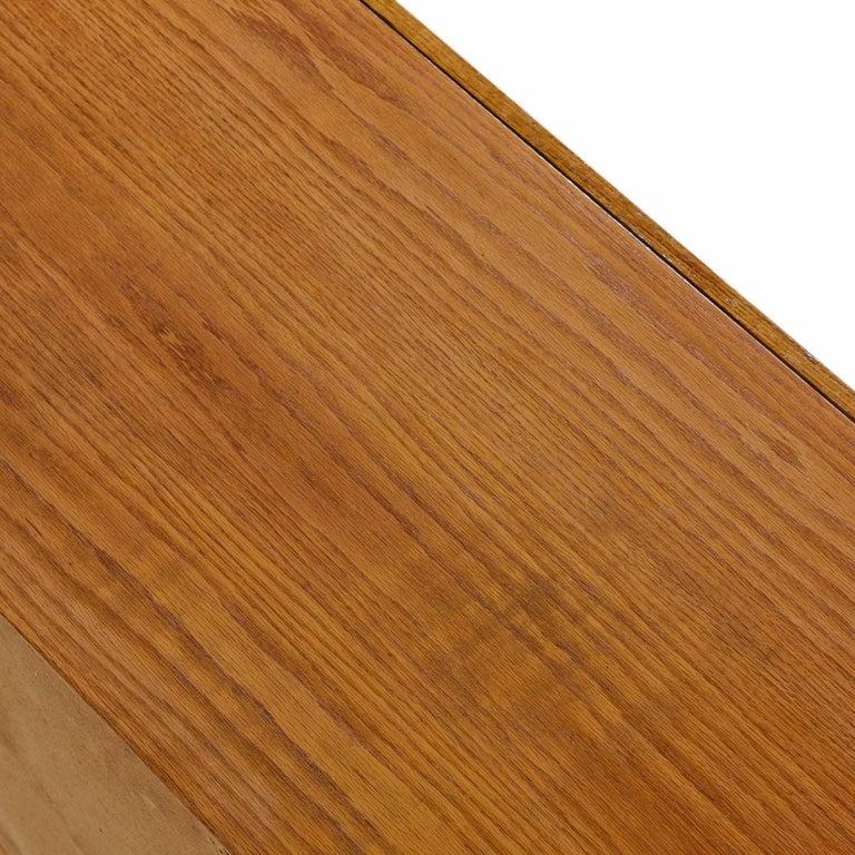 Vintage Maple Burl Walnut Rosewood and Oak Brutalist Credenza Dresser 2