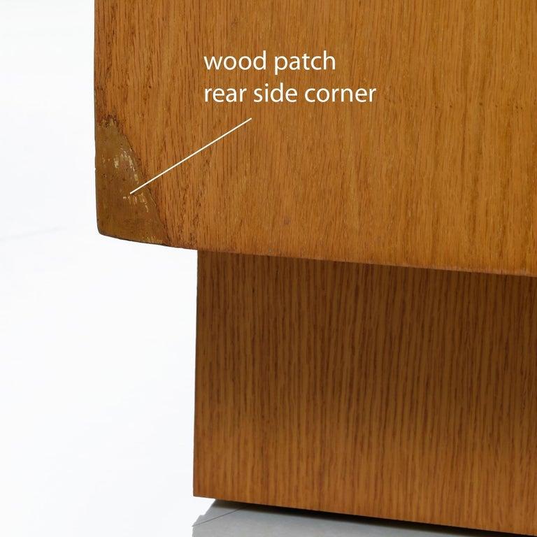 Vintage Maple Burl Walnut Rosewood and Oak Brutalist Credenza Dresser 4