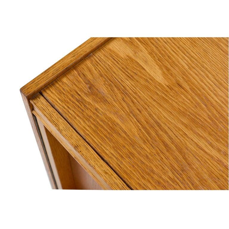 Vintage Maple Burl Walnut Rosewood and Oak Brutalist Nightstand End Table Set For Sale 2