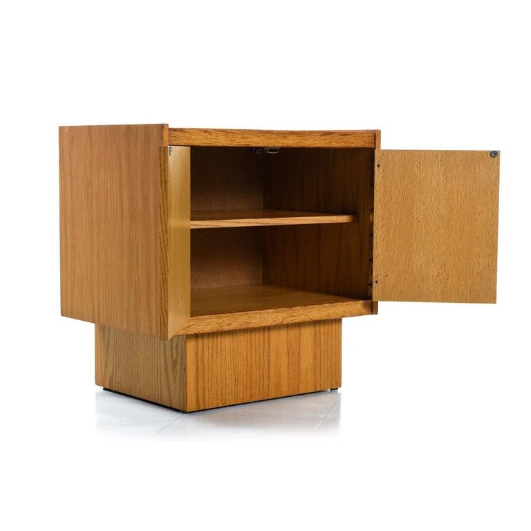 Vintage Maple Burl Walnut Rosewood and Oak Brutalist Nightstand End Table Set For Sale 3
