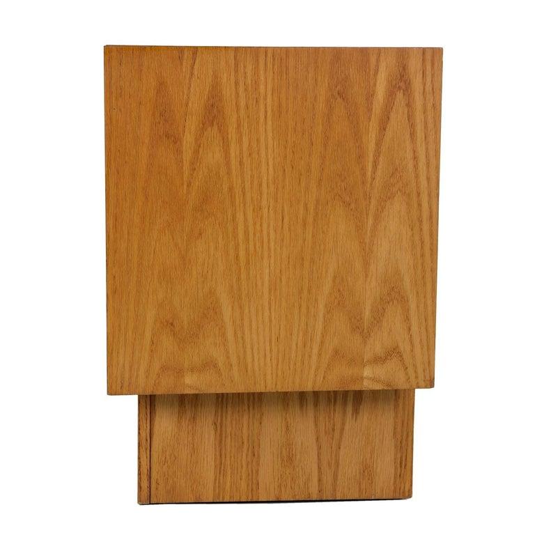 Vintage Maple Burl Walnut Rosewood and Oak Brutalist Nightstand End Table Set For Sale 4