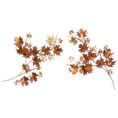 """Vintage """"Maple Leaf"""" Wall Sculpture by Curtis Jere"""