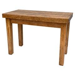 Vintage Maple Workbench Worktable