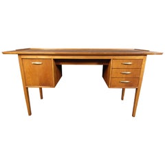 Vintage Maple Writing Desk with Drawers