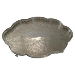Vintage Mappin & Webb Silver Plated Galleried Tray