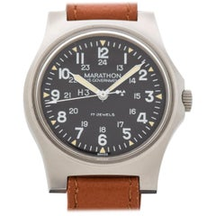 Vintage Marathon Military Stainless Steel Watch, 1984