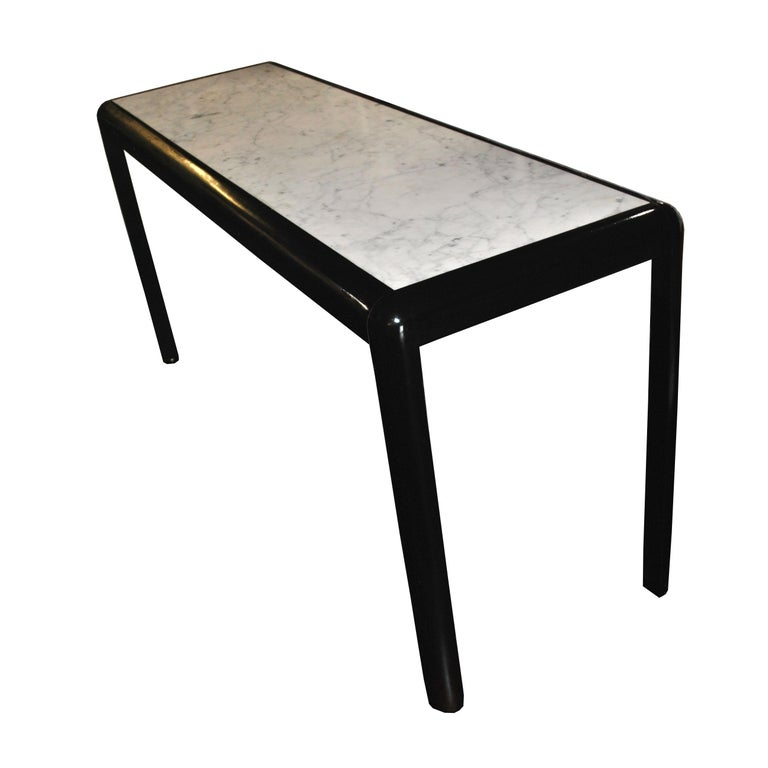 Black Ebonized Frame  Marble Top