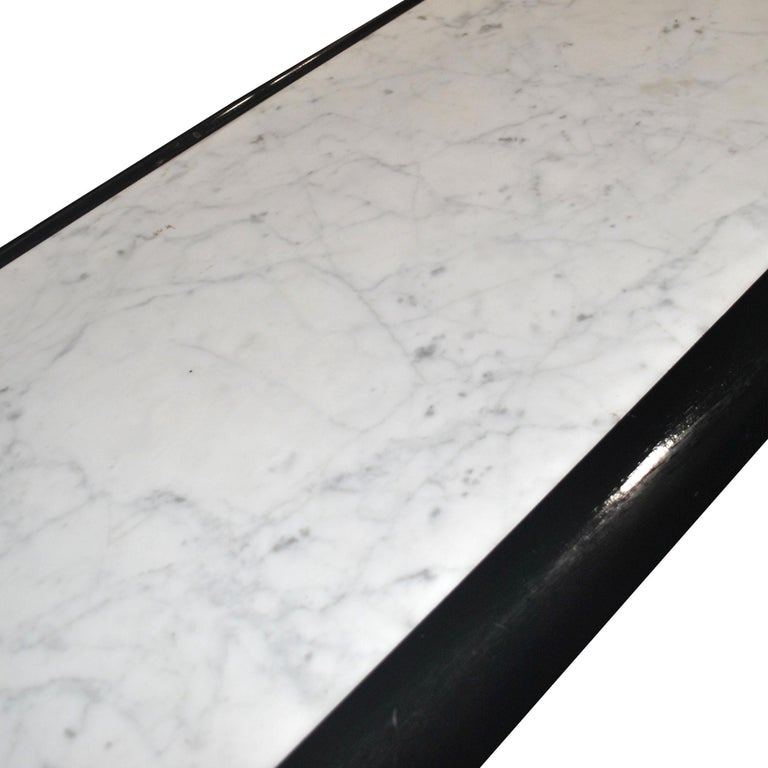 Unknown Vintage Marble and Wood Console Table For Sale