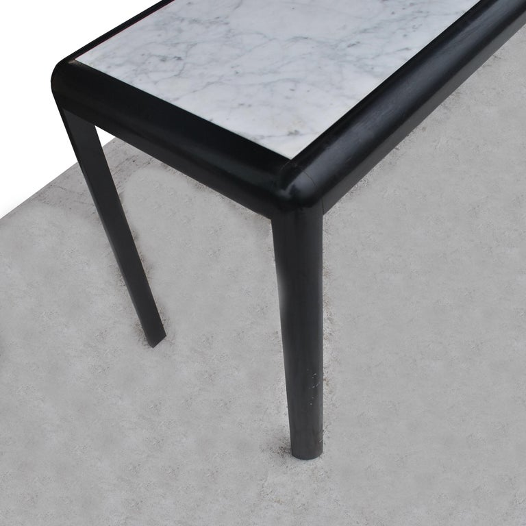 Late 20th Century Vintage Marble and Wood Console Table For Sale