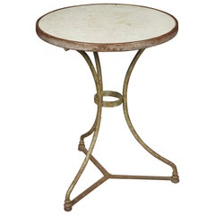 Vintage Marble Bistro Table from France, 1950s