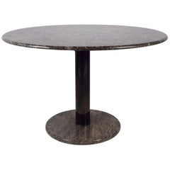 Vintage Marble Dinner Table with Rose/Grey Marble, 1970s