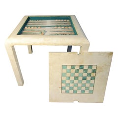 Vintage Marble Game Table in the Style of Karl Springer