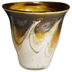 Vintage Marble Glass Vase Designed by Richard Glass, circa 1980