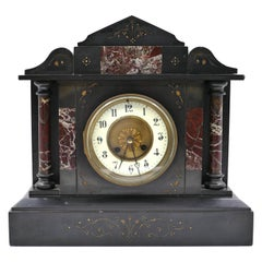Vintage Marble Mantel Clock, France, Early 20th Century