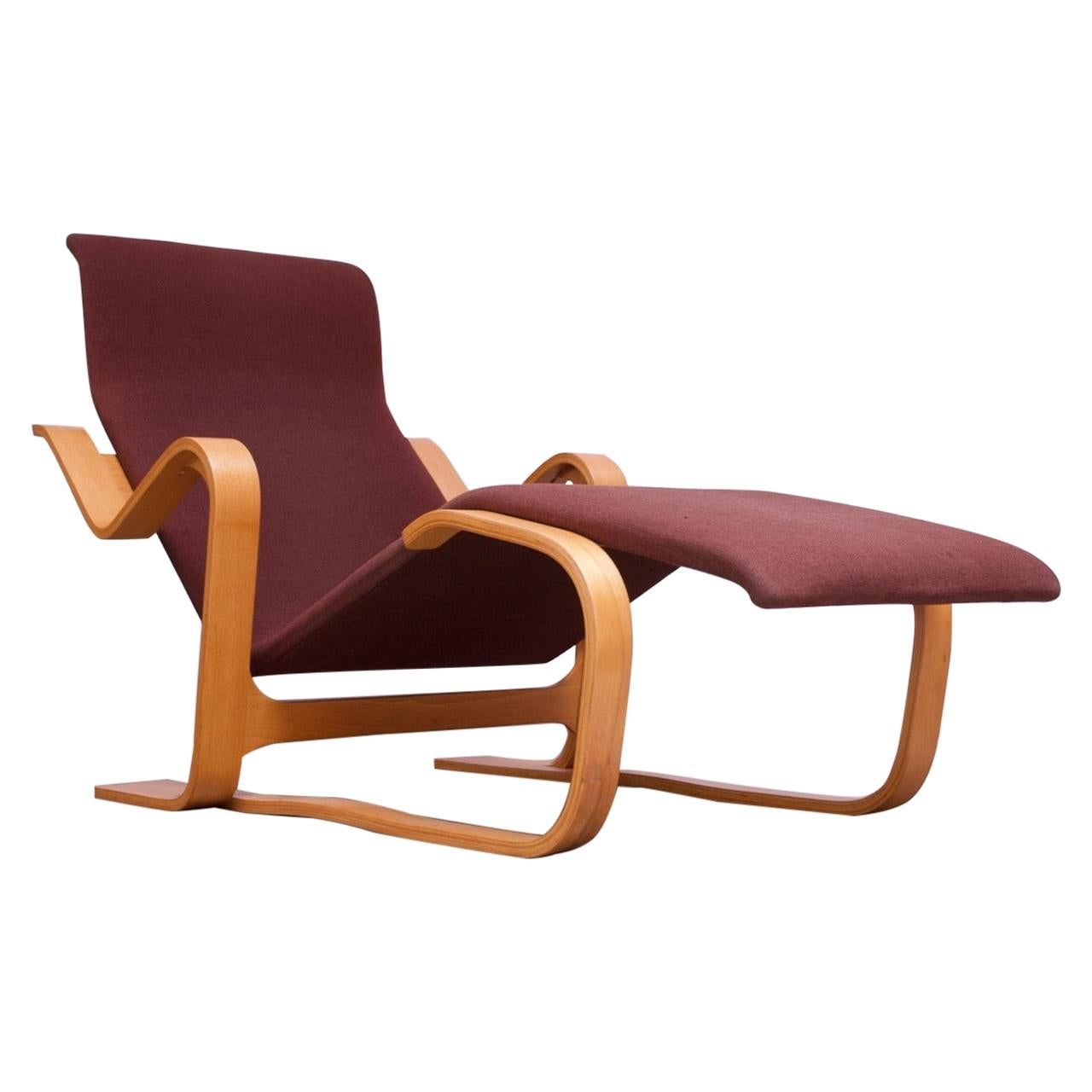 """Vintage Marcel Breuer Bent Plywood Chaise Longue / """"Long Chair"""" for Knoll"""