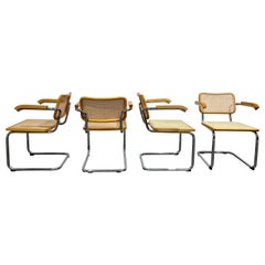 Vintage Marcel Breuer Cesca B64 Chairs by Fasem, Made in Italy, 1970s 'Set of 4'