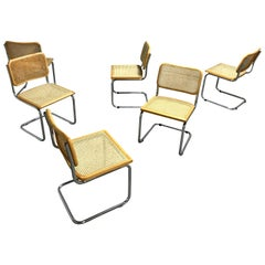 Vintage Marcel Breuer Cesca Chairs, Made in Italy, 1970s '6 Pieces in Stock'