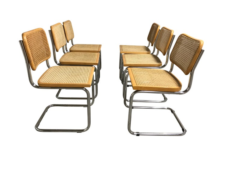 Italian Vintage Marcel Breuer Cesca Chairs, Made in Italy, 1970s