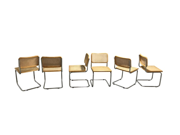 Vintage Marcel Breuer Cesca Chairs, Made in Italy, 1970s In Excellent Condition In Neervelp, BE