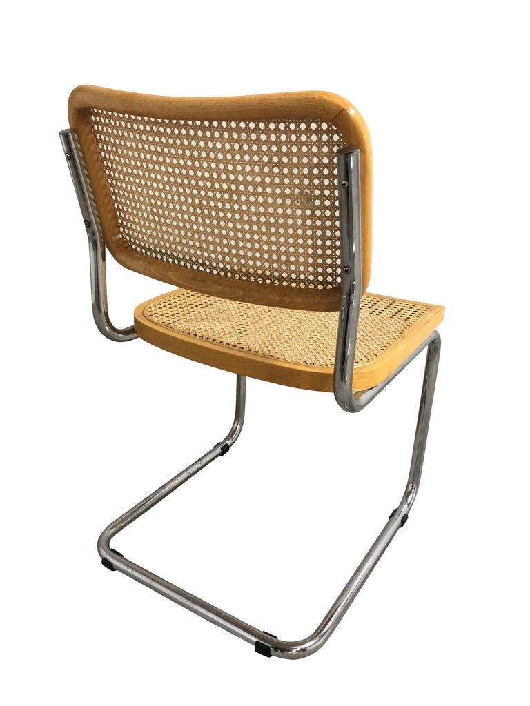 Late 20th Century Vintage Marcel Breuer Cesca Chairs, Made in Italy, 1970s