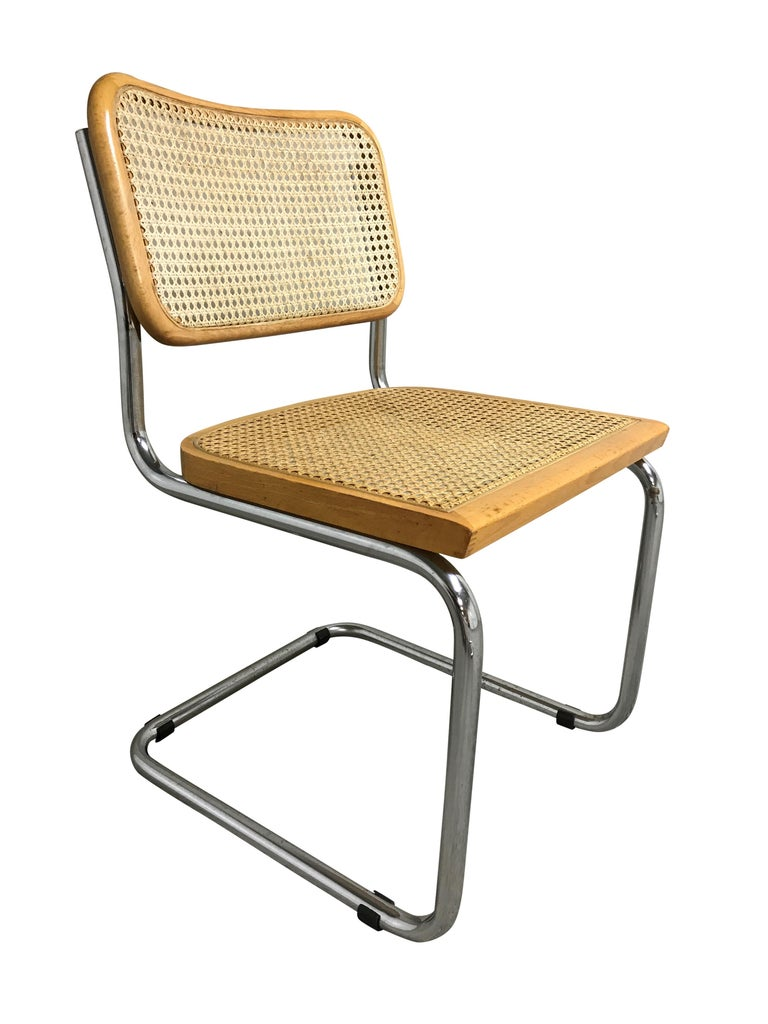 Cane Vintage Marcel Breuer Cesca Chairs, Made in Italy, 1970s