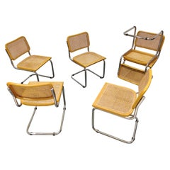 Vintage Marcel Breuer Cesca Chairs Set of 6, Made in Italy, 1970s