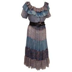 Vintage Marcelle Dante Floral Multi print Dress