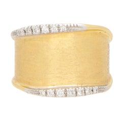 Vintage Marco Bicego Diamond Dress Ring Set in 18k Yellow Gold