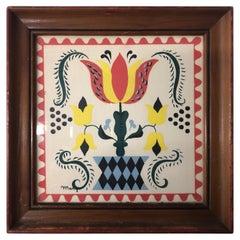 Vintage Margo Alexander 1950s Wood Framed Print
