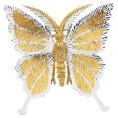 Vintage Mario Buccellati 18K Gold Rare Butterfly Pin Brooch