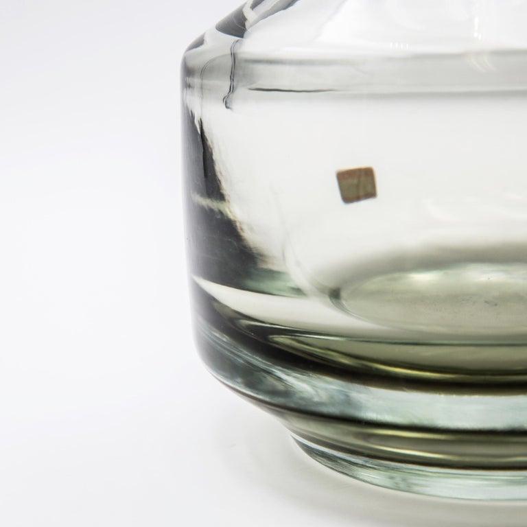Mid-Century Modern Vintage Mario Pinzoni for Seguso Vetri d'Arte Murano Blown Glass Vase For Sale