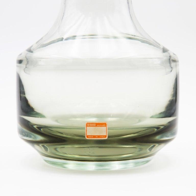 Italian Vintage Mario Pinzoni for Seguso Vetri d'Arte Murano Blown Glass Vase For Sale