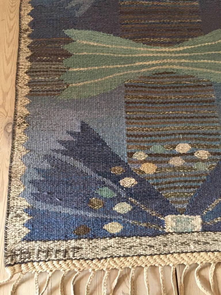 Hand-Woven Vintage Marta Maas-Fjetterström Rug For Sale