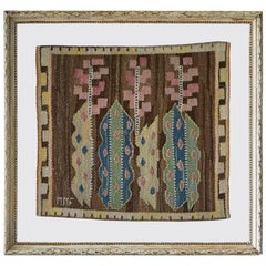 Vintage Märta Måås-Fjetterström Wall Tapestry in Antique Frame