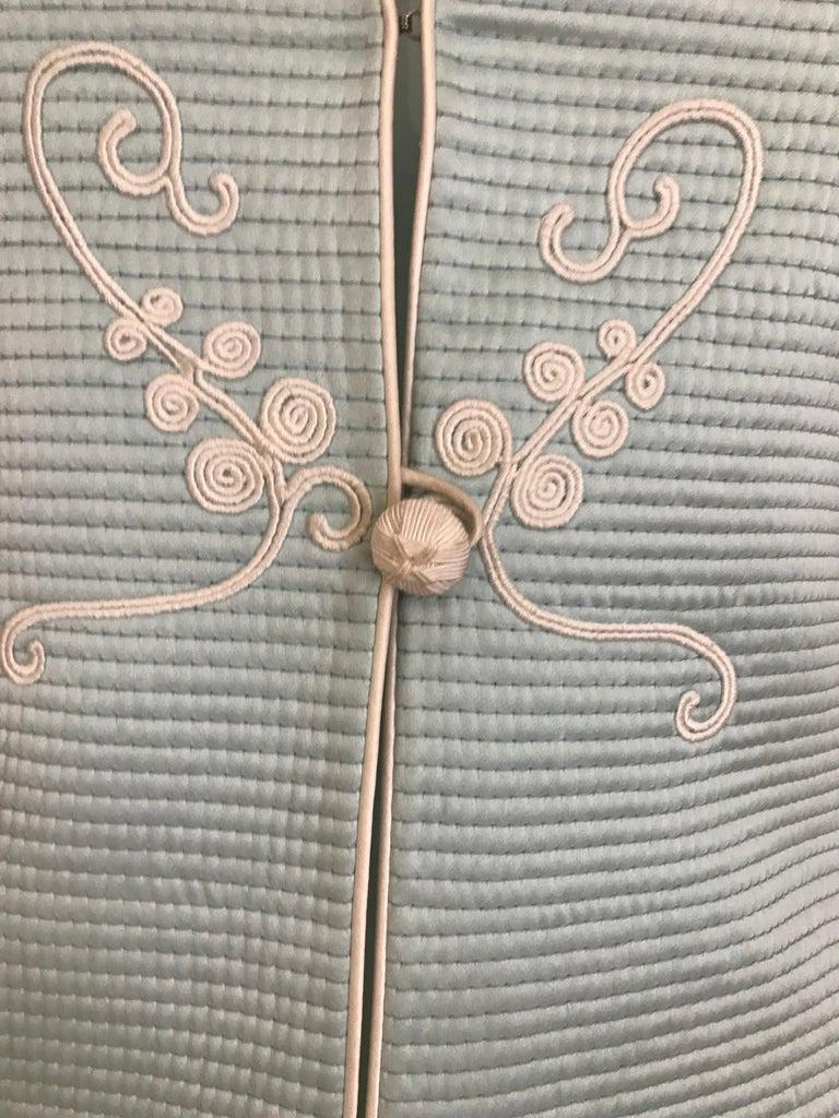 Vintage Mary McFadden Couture Light Blue Silk Coat 1