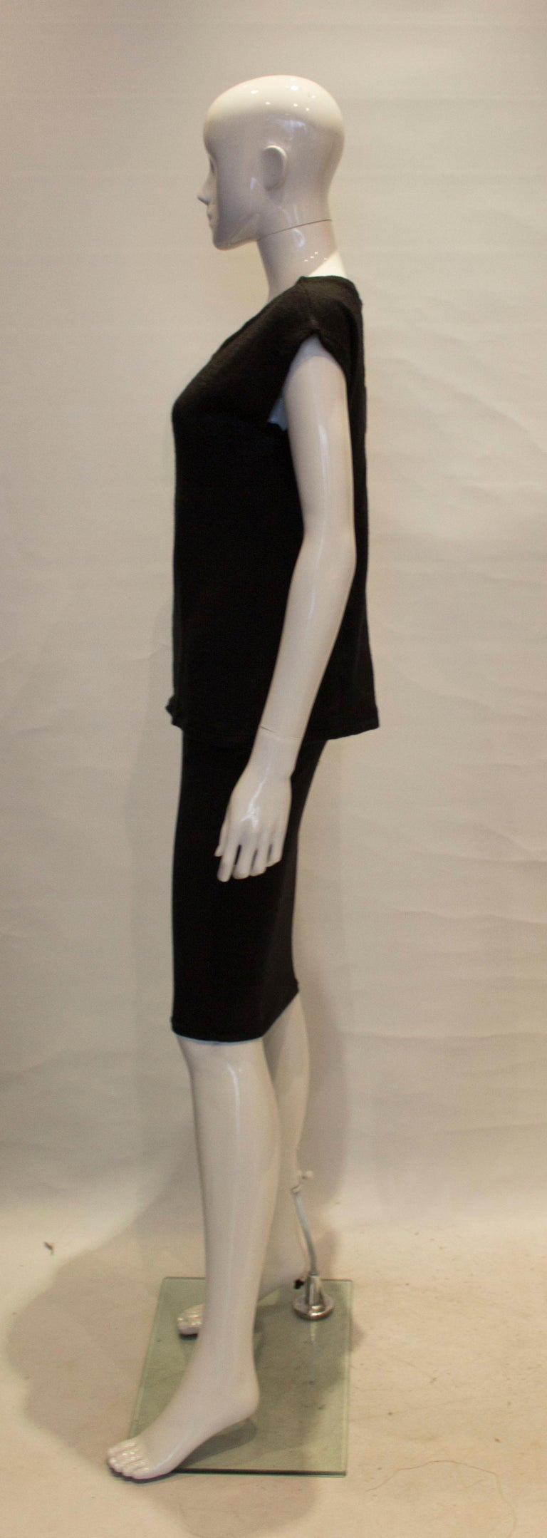 Vintage Mary Quant Black and White Knitted Top For Sale 1